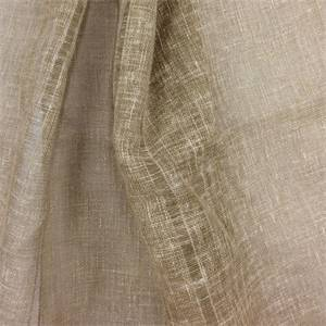 Cottage Sheer Driftwood Striped Drapery Fabric