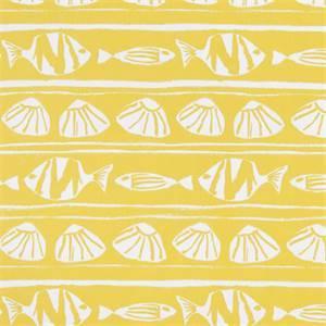 Caicos Mimosa Cotton Drapery Print by Premier Print Fabrics 30 Yard Bolt