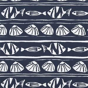 Caicos Vintage Indigo Cotton Drapery Print by Premier Print Fabrics 30 Yard Bolt