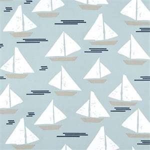 Cape May Spa Blue Cotton Drapery Print by Premier Print Fabrics 30 Yard Bolt