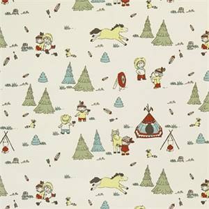 Cowboys And Friends Formica Macon Cotton Drapery Print by Premier Print Fabrics
