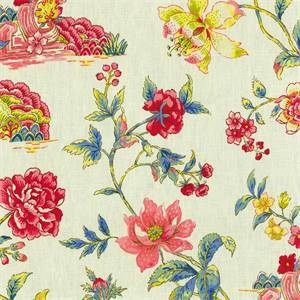 Pondicherry Jewel Floral Linen Fabric by Waverly