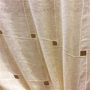 Window Pane Gold embroidered Sheer Drapery Fabric