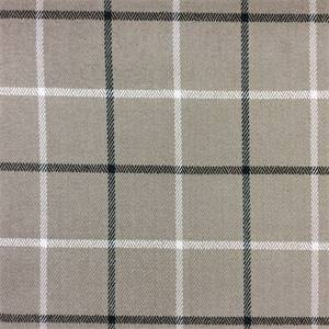 Montgomery Charcoal Grey And White Plaid Upholstery Fabric