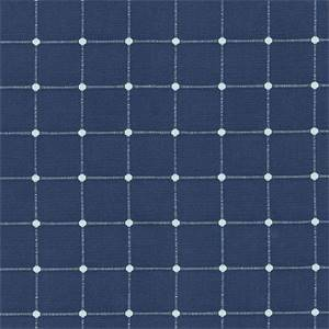 Geo Metrics Indigo Cotton Blend Drapery Fabric by Waverly Fabrics