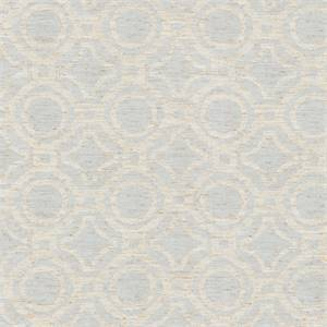 Cane Ocean Blue Linen Blend Drapery Fabric by Waverly Fabrics