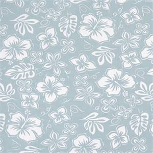 Hibiscus Spa Blue Cotton Drapery Fabric by Premier Print Fabrics 30 Yard Bolt