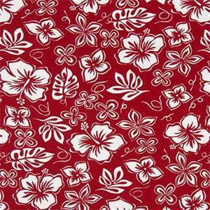 Hibiscus Lipstick Cotton Drapery Fabric by Premier Print Fabrics 30 Yard Bolt