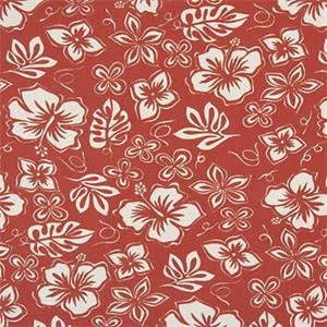 Hibiscus Formica Red Macon Cotton Drapery Fabric by Premier Print Fabrics 30 Yard Bolt