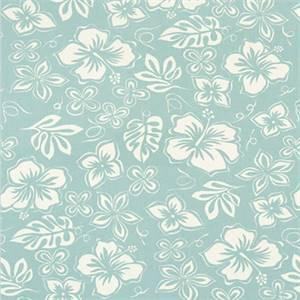 Hibiscus Canal Macon Cotton Drapery Fabric by Premier Print Fabrics 30 Yard Bolt