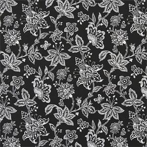 Madelyn Black Cotton Drapery Fabric by Premier Print Fabrics 30 Yard Bolt