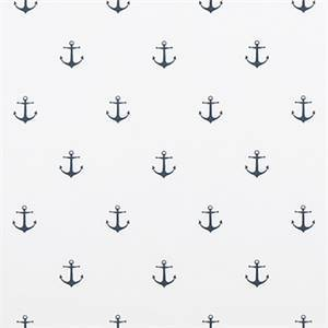 Mini Anchor White Premier Navy Twill Drapery Print by Premier Print Fabrics 30 Yard Bolt
