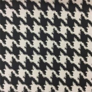 13sepek Houndstooth Upholstery Fabric Color Black And White