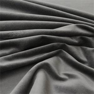 Brussels Velvet Upholstery Fabric Color Gunmetal Grey