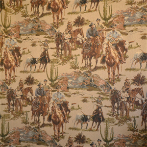 Rawhide Western Upholstery Fabric Color Roundup Brown