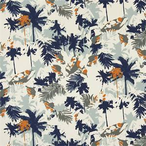 Palms Maya Macon Cotton Drapery Fabric by Premier Print Fabrics 30 Yard Bolt
