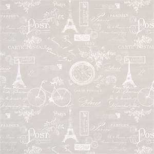 Paris French Grey Cotton Drapery Fabric by Premier Print Fabrics 30 Yard Bolt