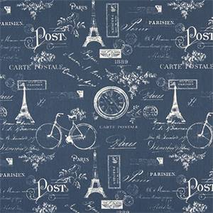 Paris Premier Navy Twill Cotton Drapery Fabric by Premier Print Fabrics 30 Yard Bolt
