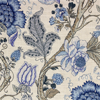 Maison Floral Print Drapery Fabric Color Baltic Blue Oh So Beautiful Is  This All Over Linen Blend Floral Print Drapery Fabric For The Premium Line  Platinum ...