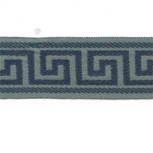 CC235/996 Blue Greek Key Flat Tape Trim
