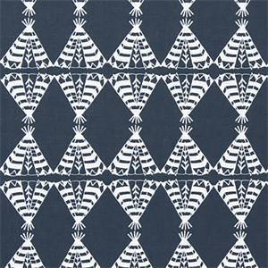 Pow Wow Spruce Blue Cotton Drapery Fabric by Premier Print Fabrics 30 Yard Bolt