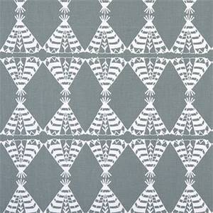 Pow Wow Sundown Grey Cotton Drapery Fabric by Premier Print Fabrics 30 Yard Bolt