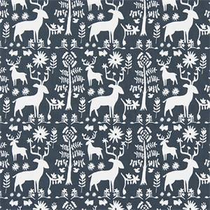 Promised Land Spruce Blue Cotton Drapery Fabric by Premier Print Fabrics 30 Yard Bolt