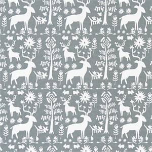 Promised Land Sundown Grey Cotton Drapery Fabric by Premier Print Fabrics 30 Yard Bolt