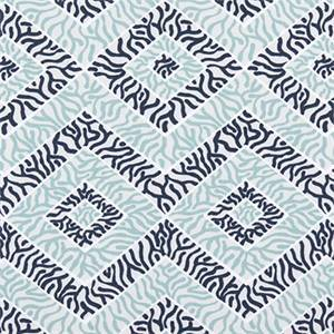 Sea Diamond Vintage Indigo Canal Cotton Drapery Fabric by Premier Print Fabrics 30 Yard Bolt