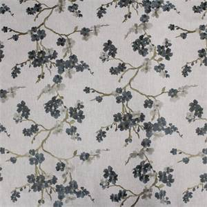 Lilikoi embroidered Drapery Fabric Hydrangea