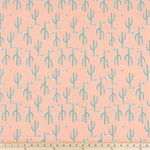 Desert Valley Sundow Green Peach Drapery Fabric by Premier Prints