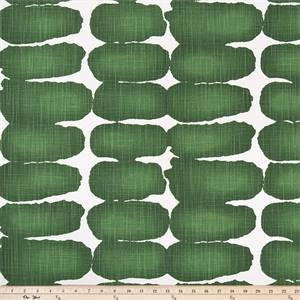 Shibori Dot Pine / Slub Canvas Drapery Fabric by Premier Prints