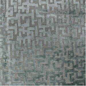 Milo Cut Velvet Upholstery Fabric In Rain Blue 117milrai3