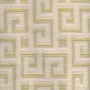 Manhattan Kiwi Green Greek Key Contemporary Upholstery Fabric 6491