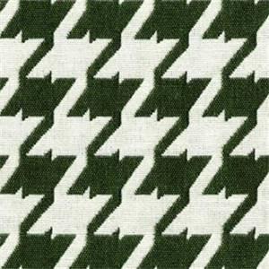 Bohemian 27 Fern Green Houndstooth Upholstery Fabric - Order a 12 Yard Bolt