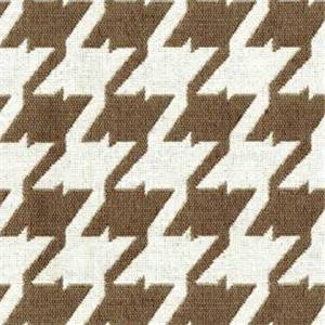 Bohemian 85 Sand Brown Houndstooth Upholstery Fabric - Order a 12 Yard Bolt