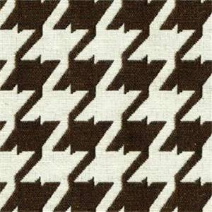 Bohemian 87 Chocolate Brown Houndstooth Upholstery Fabric - Order a 12 Yard Bolt