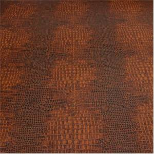Reptile Saddle Brown Textured Vinyl Upholstery Fabric By Richloom
