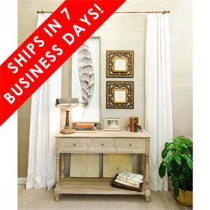 7-DAY DRAPES 55% Linen 45% Cotton Linen Blend Ivory, Double Width, Thermafoam Lining, 96""