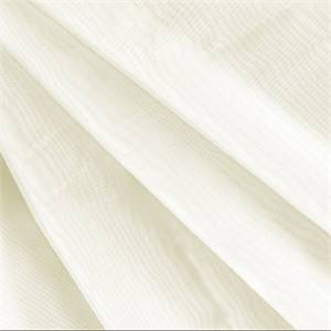 "Ninon Voile Sheer Solid Marble White Extra Wide 118"" Drapery Fabric by Hanes"