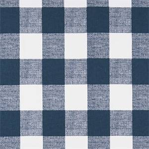 Anderson Plaid Premier Navy Blue Drapery Fabric