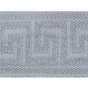 Greek Key Silver Gray Tape Trim