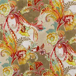 Lucia Red Beige Drapery Fabric Lucia Red Beige Drapery Fabric This Printed  Drapery Fabric Is Perfect For Window Treatments, Decorative Pillows,  Handbags, ...