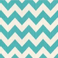 Limitless KF Aqua Blue Chevron Linen Drapery Fabric
