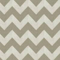 Limitless KF Smoke Gray Chevron Linen Drapery Fabric