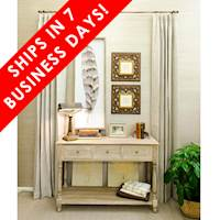 7-DAY DRAPES 55% Linen 45% Cotton Linen Blend Tan, Single Width, Thermafoam Lining, 96""