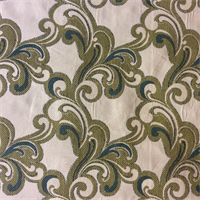 M9393 Lagoon Woven Floral Upholstery Fabric by Barrow Merrimac - Order a Swatch