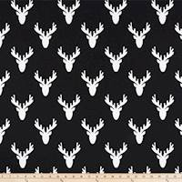 Antlers Black Drapery Fabric by Premier Prints - 30 Yard Bolt