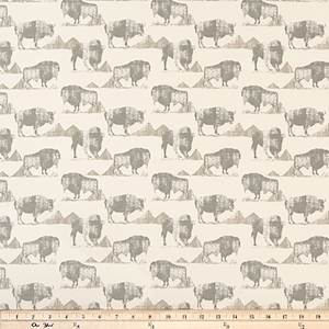 Buffalo Trail Lead Macon Drapery Fabric By Premier Prints 30 Yard