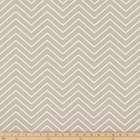 Chevron Gunmetal Tan Twill Drapery Fabric by Premier Prints - 30 Yard Bolt